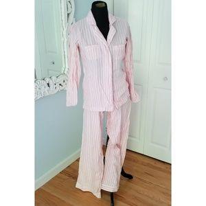 Victorias Secret Pink and White PJ Set Size XS